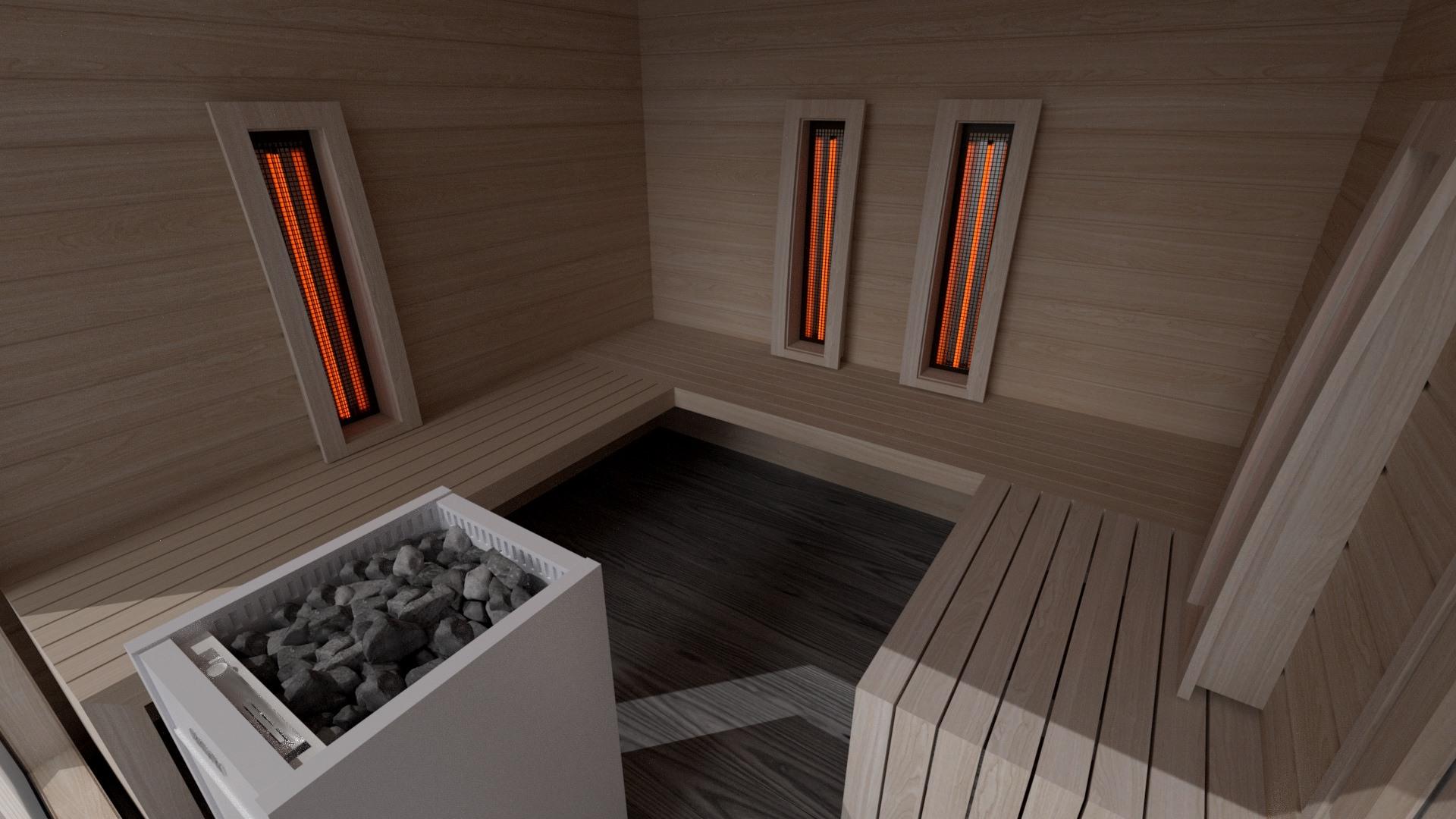 INUA Baldur Vitarium 1 – combined sauna-kombinierte Sauna